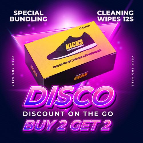 Foto Produk Kicks Shoe Cleaning Wipes - 12 Sheets - 2 Pcs dari KICKS Official