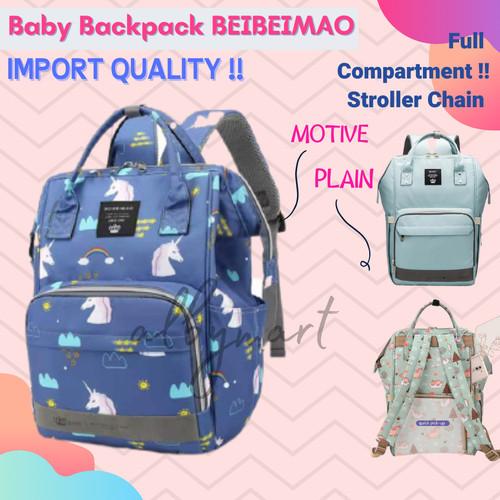Foto Produk Tas Bayi Anello Diaper Bag Backpack Ransel Multifungsi mirip land - BLUE MOTIVE dari cabokimurah