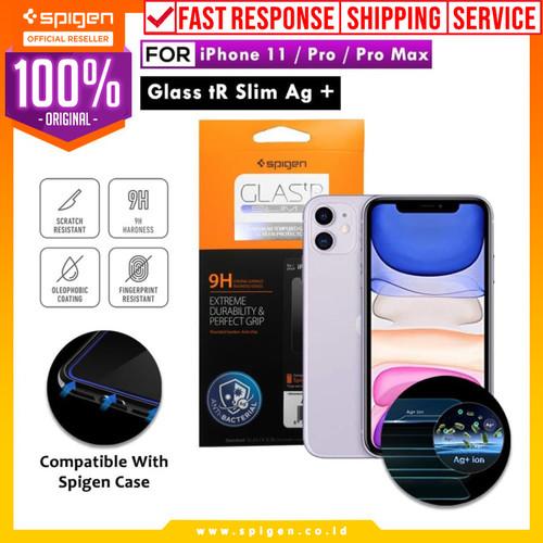 Foto Produk Tempered Glass iPhone 11 / Pro / Max / XS Max / XS / XR X Spigen SLIM - 11 or XR dari Spigen Official