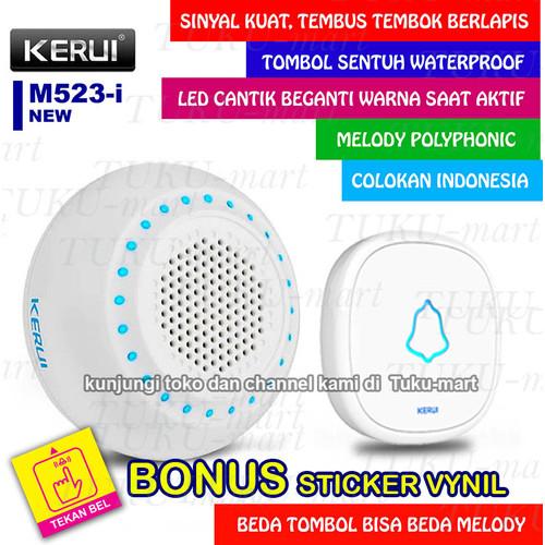 Foto Produk BEL RUMAH WIRELESS / DOOR BELL KERUI ( Water Proof, smart system ) dari Tuku-Mart