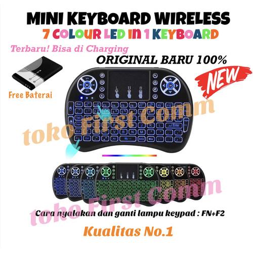 Foto Produk Mini Keyboard i8 Wireless Touchpad Original with Color Backlight #1 - Tanpa Bubble dari First Comm