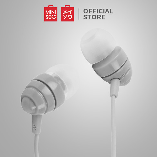 Foto Produk MINISO Earphone Earbud Headphone In-Ear Colorful Musik Headset Stereo - Abu-abu, Seri spiral dari Miniso Indonesia