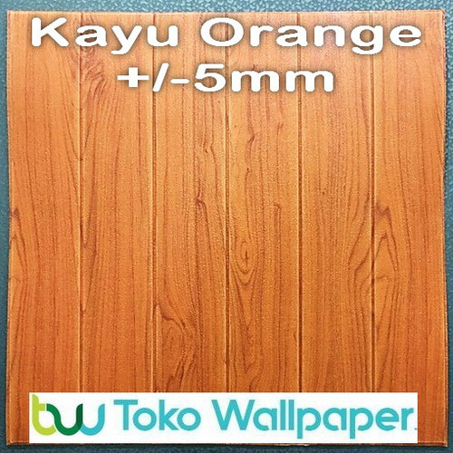 Foto Produk Wallpaper Dinding 3D 70 X 77 cm - 3D Foam - Kayu Orange dari Maju Interior