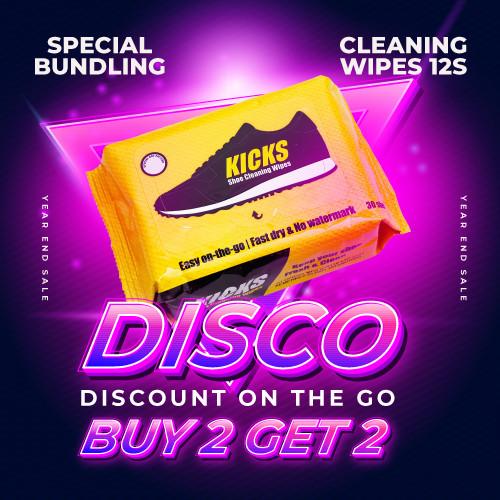 Foto Produk Kicks Shoe Cleaning Wipes - 30 Sheets - 2 Pcs dari KICKS Official