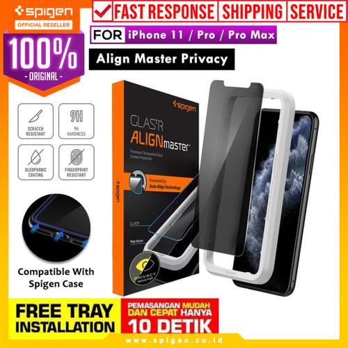Foto Produk Tempered Glass iPhone 11 / Pro / Max / XS Max XS XR Spigen AlignMaster - iPhone 11, Glas tr dari Spigen Official