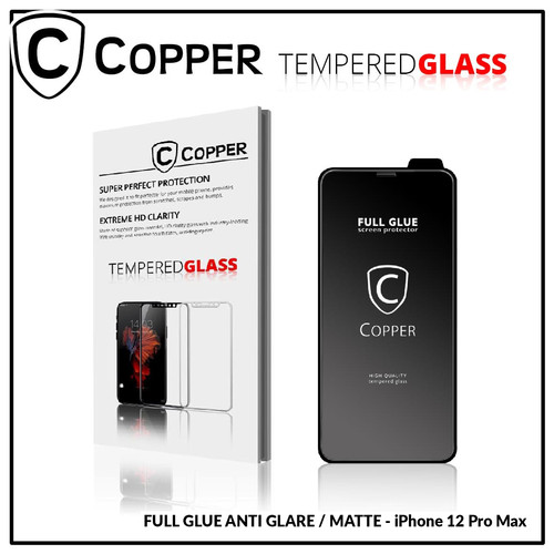 Foto Produk iPhone 12 Pro Max - COPPER Tempered Glass Full Glue ANTI GLARE - MATTE - TG GLARE dari Copper Indonesia