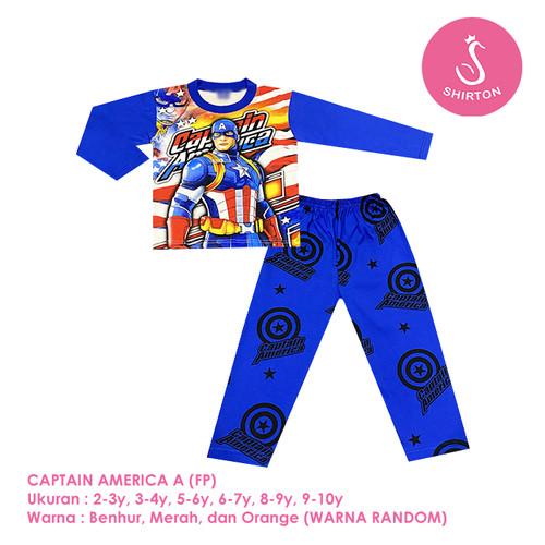 Foto Produk Baju Setelan Anak Laki-Laki Panjang Full Print 2-10 Tahun Shirton (1) - CAPTAIN A FP, 2-3y Panjang dari shirton