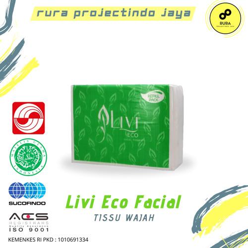 Foto Produk Tisu Facial / Tissu / Tissue LIVI ECO FACIAL REFILL 600's dari Licht Project