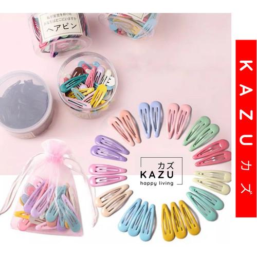 Foto Produk KAZU KHA109 10pcs Jepit Rambut Anak Warna Warni Permen Dengan Kantong - Soft Random dari kazuindonesia