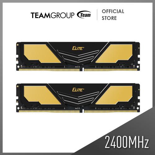 Foto Produk Team Memory Elite Plus 2x8GB PC 2400 DDR4 ( 19200Mhz ) dari Teamgroup Official Store