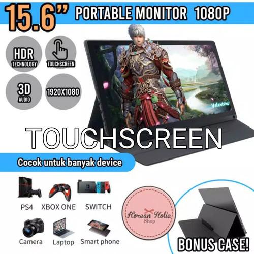Foto Produk Portable Monitor 15.6 Inch TOUCHSCREEN TYPE-C HDMI | FHD 1080p - non baterai dari Koreanholicshop