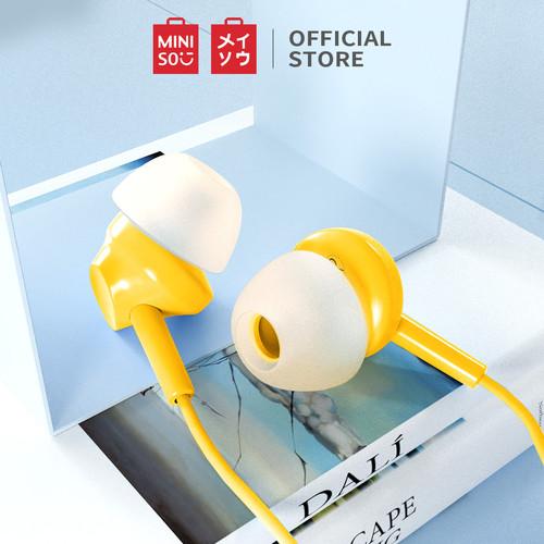 Foto Produk MINISO Earphone Headset Earbud Headphone In-Ear Mic Peredam Bising - Kuning dari Miniso Indonesia