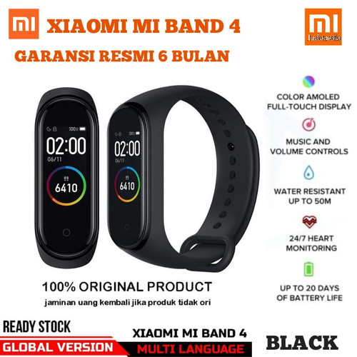 Foto Produk Xiaomi Mi Band 4 OLED SmartBand Original - Black - MI BAND 4, GLOBAL VERSION dari Xiaomi.Indonesia