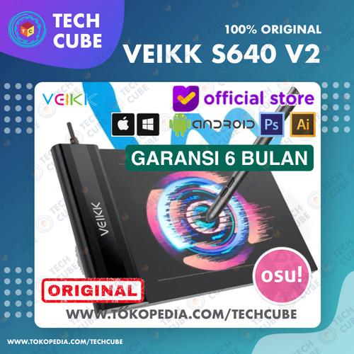 Foto Produk VEIKK S640 Digital Graphic Drawing Pen Tablet OSU Alt H420 G430 G640 - Tablet dari Tech Cube