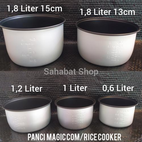 Foto Produk PANCI RICE COOKER MAGIC COM TEPLON MIYAKO COSMOS 0,6 1,2 1,8 LITER - 1,8L rendah13cm dari Sahabat ShopTP