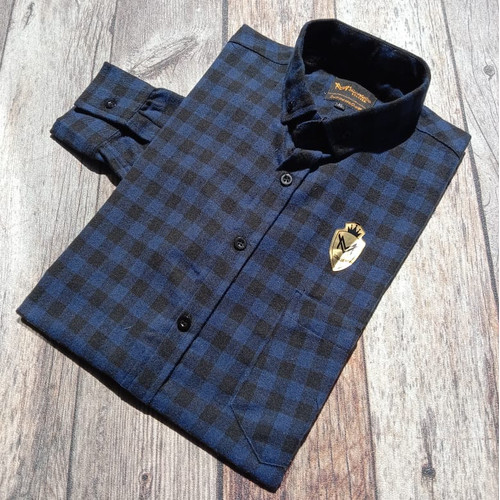 Foto Produk Kemeja Flanel Flannel Pria Check Navy Kantor Kerja Slimfit Baju Murah - L dari ALJOSA