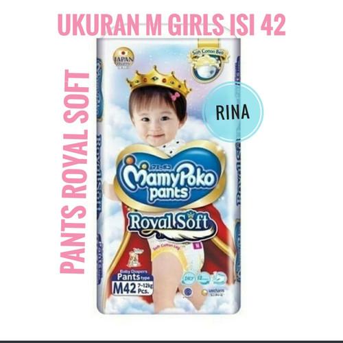 Foto Produk Mamypoko Royal Soft Pants M Girl Popok Celana Anak Sekali Pakai dari Rina