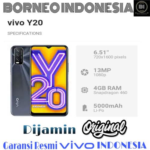 Foto Produk VIVO Y20 RAM 3/64 GARANSI RESMI INDONESIA - Demo, No Bonus - Putih dari BORNEO INDONESIA