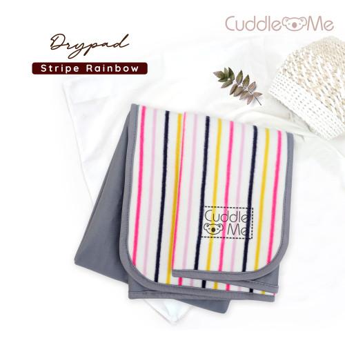 Foto Produk PROMO Murah PERLAK KAIN LEMBUT ANTI AIR | DRYPAD warna mix | CUDDLEME - Stripe Rainbow dari Nainu Grosir Anak