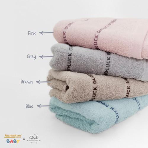 Foto Produk Kintakun Cotton Baby Towel 33 x 72 Bonmun Lembut Super Soft - Pink dari Kintakun Sprei Bedcover