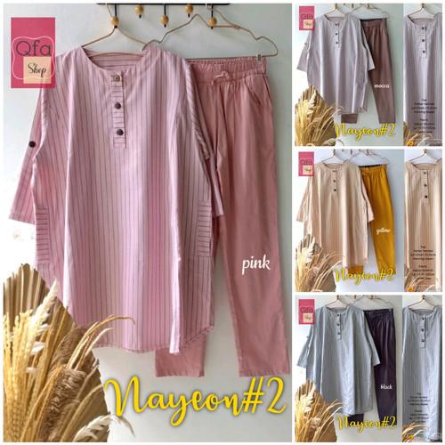 Foto Produk New Nayeon #2 Setelan Celana Wanita Jumbo Baju Kerja Big Size Modis dari Ilyassa Shop
