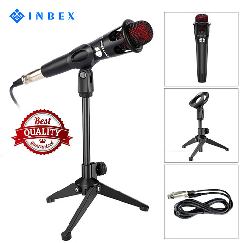 Foto Produk INBEX Kit Mikrofon with Stand/Condenser Microphone+Mikrofon Holder dari INBEX Official Store
