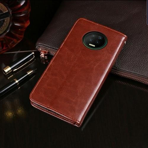 Foto Produk Flip Cover Kulit Leather Case Infinix Note 7 Book Cover Kulit Dompet dari sense accessories