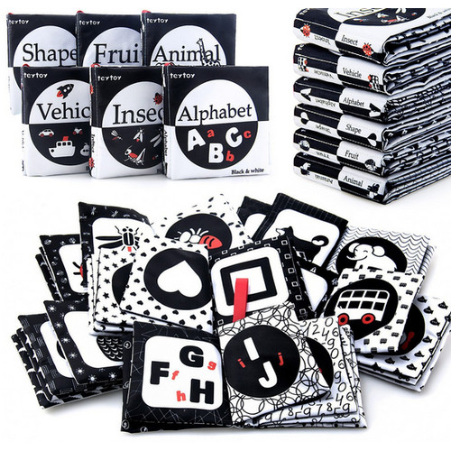 Foto Produk Soft Book High Contrast Newborn Baby Buku Bantal Bayi Hitam Putih - Full Contrast dari My Own Flashcards