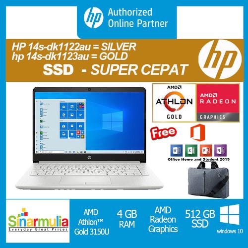 Foto Produk HP 14s-dk1122AU/14s-dk1123AU Athlon-3150U 4GB 512SSD Win10+OHS 14 inch - Silver dari Sinarmulia Sukses Makmur