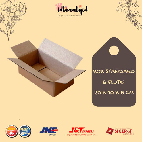 Foto Produk Kardus Box Polos - Karton Packing 20x10x8 cm dari idbeautyid