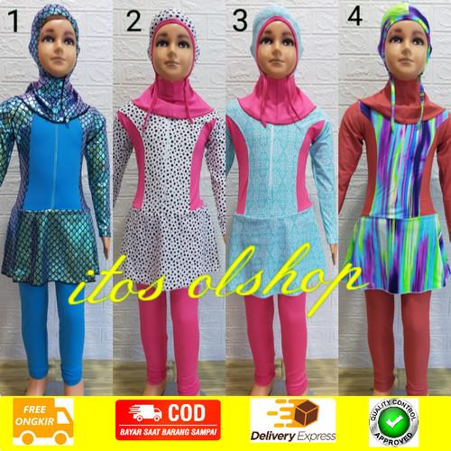 Foto Produk Baju Renang Muslimah Anak PAUD/TK Motif Cantik dari ItoS OlShop