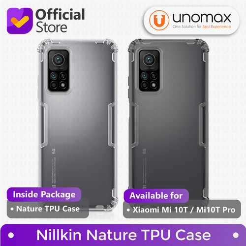 Foto Produk Soft Case Xiaomi Mi 10T / Mi10T Pro Nillkin Nature TPU Casing - Grey dari unomax