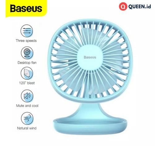 Foto Produk Baseus Kipas Meja Desk Fan 3 Speed Puding Shaped Fan - Kipas Meja - Biru dari QUEEN-id
