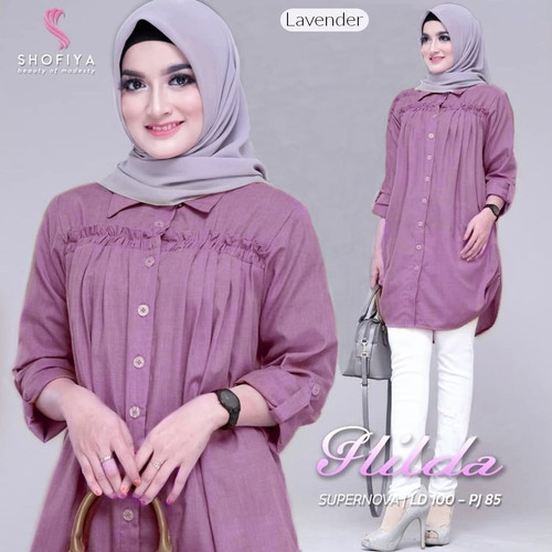Foto Produk Baju Atasan Wanita Blouse Muslim Hilda tunik Shofiya dari myfashion