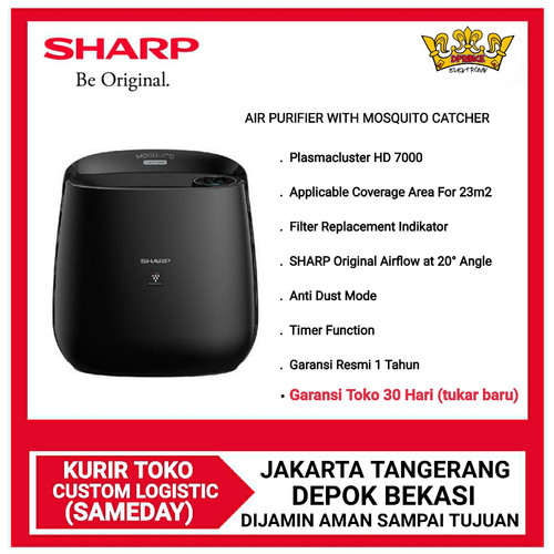 Foto Produk SHARP AIR PURIFIER FP-GM30Y-B WITH MOSQUITO CATCHER - YES BUBBLE WRAP dari DPRINCE