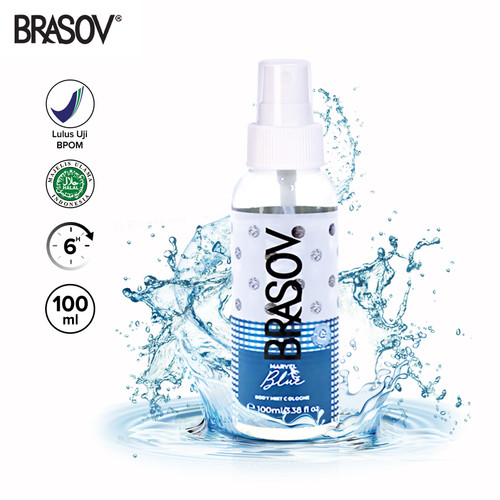 Foto Produk BRASOV Body Mist Pria 100 ML Cologne Spray Halal Marvel / Sporty Ori - Marvel Biru dari Brasov Official