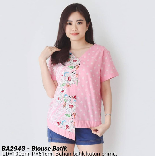 Foto Produk BLOUSE BATIK AIRA CANTIK MODERN ATASAN CEWEK BAJU WANITA CANTIK MURAH - Merah Muda dari Ace Sakura Fashion