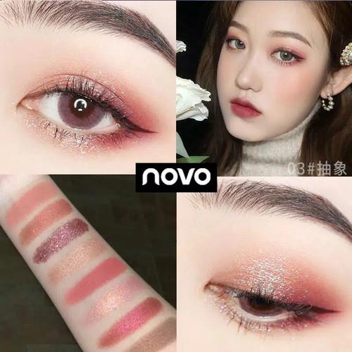 Foto Produk Novo Keyboard 9 warna shimmer glitter eyeshadow palette - shade 03 dari Jojosolshop