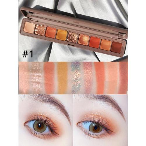 Foto Produk Eyeshadow 9 WARNA Korean Eyeshadow Palette LAMEILA Glitter Eyeshadow - 01 PUMPKIN dari Urban Collections