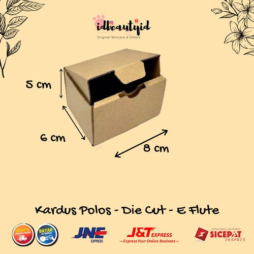 Foto Produk kardus Packing uk. 8x6x5 cm -Die Cut dan easy usage- dari idbeautyid