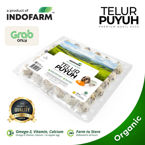 Foto Produk Telur Puyuh Organik (Omega) - INDOFARM™ dari INDOFARM PRODUCT