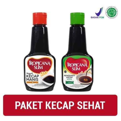 Foto Produk Paket Kecap Sehat: Tropicana Slim Kecap Manis 200ml + Kecap Asin 200ml dari NutriMart