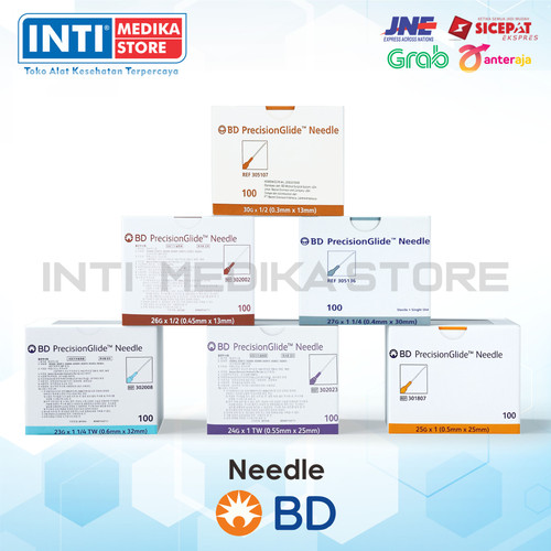 Foto Produk BD - Disposable Needle BD | Jarum Needle | Jarum BD Sekali Pakai - 27G dari INTI MEDIKA STORE