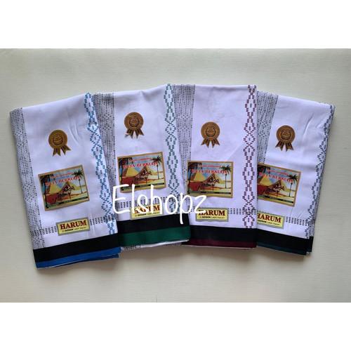 Foto Produk Sarung Samarinda Raja Berkuda Harum Putih type Saphire - Warna Acak dari Elshopz
