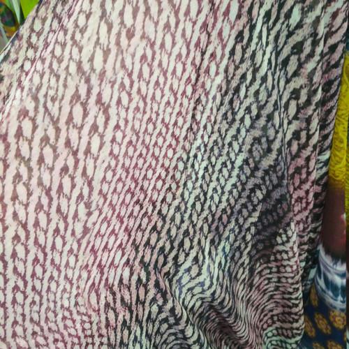 Foto Produk kain Ceruti motif/bahan blus/kain sifon Ceruti 1 meter dari yasmin aura