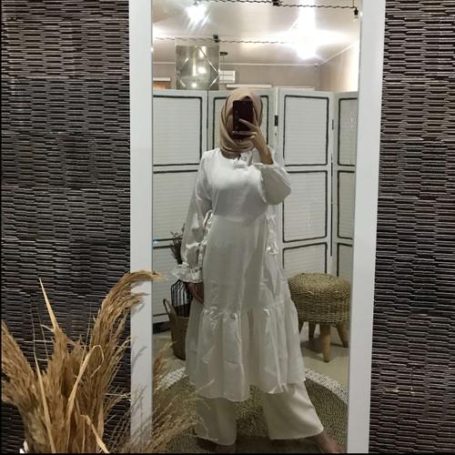 Foto Produk Atasan Muslim Wanita Covering Story Arvino Tunic - E Ivory dari Covering Story