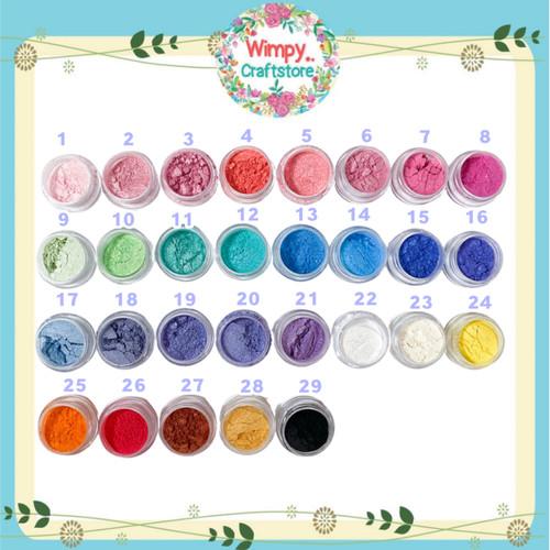 Foto Produk Mica Powder Metallic Powder Pewarna Sabun Makeup Resin Pearl Ex - No.1 dari Wimpy Clay