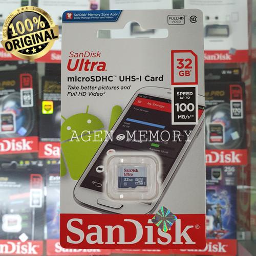 Foto Produk Sandisk Micro SD 32gb 80mb/s Ultra class 10 dari AGEN  MEMORY