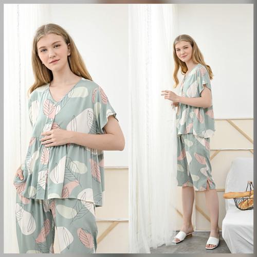 Foto Produk Runa Set in Calm Green - Sleepwear / Piyama Baju Tidur Rayon by RAHA dari Raha Sleepwear