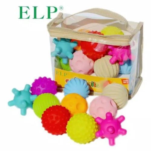 Foto Produk Soft Ball Baby (Mainan Paket Bola Sensory Bayi) - Isi 10 Bola dari Alfaza Shop
